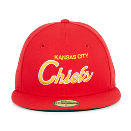Exclusive New Era 59Fifty Kansas City Chiefs Script Hat - Red