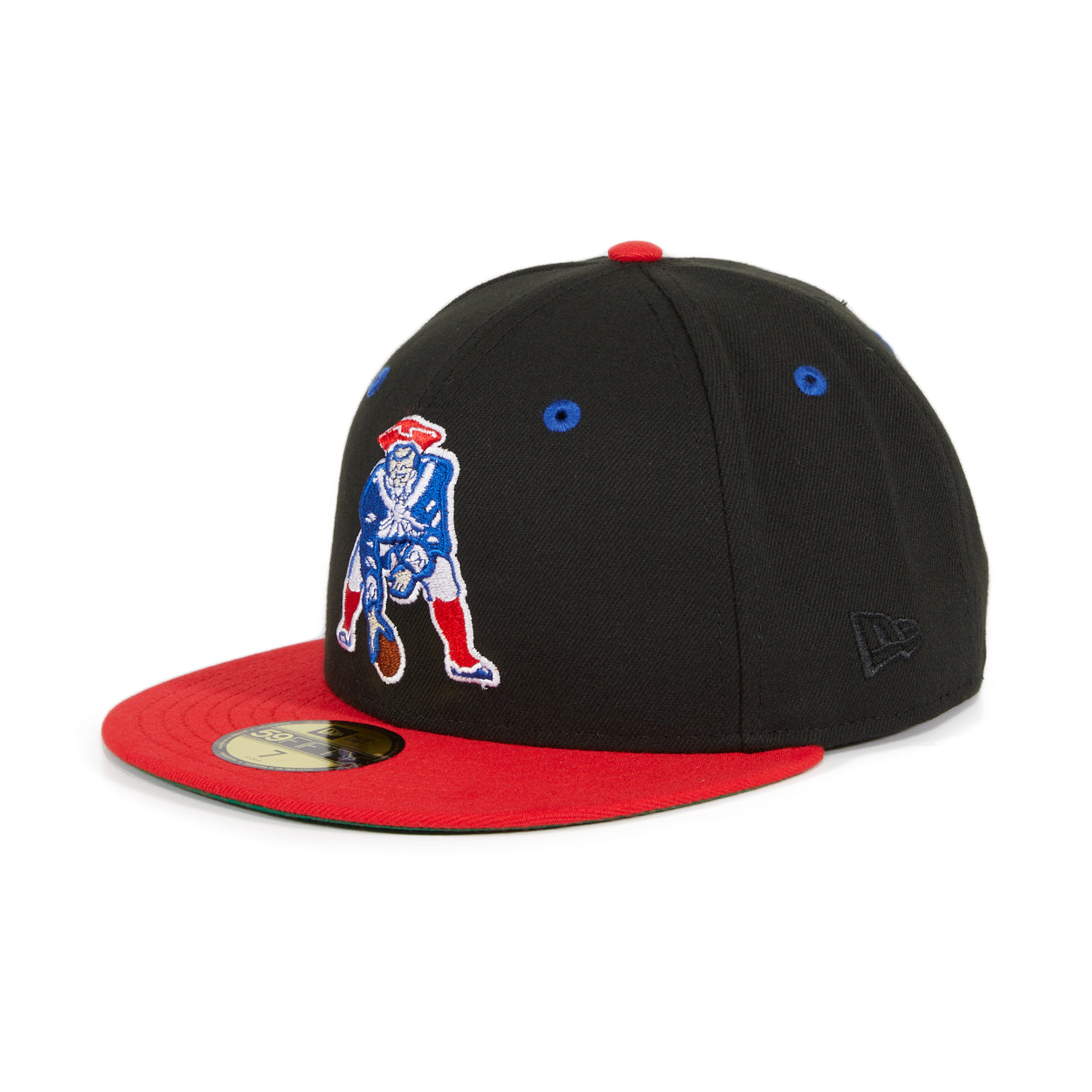 Exclusive New Era 59Fifty New England Patriots 1972 Hat - 2T Black, Royal