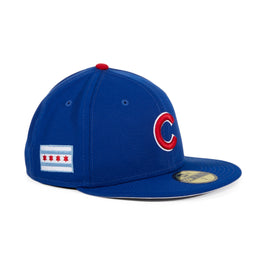 Exclusive New Era 59Fifty Chicago Cubs Chicago Flag Hat - Royal