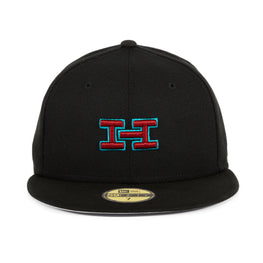 Exclusive New Era 59Fifty Hat Club Monogram Logo Hat - Black, Sedona Red, Teal