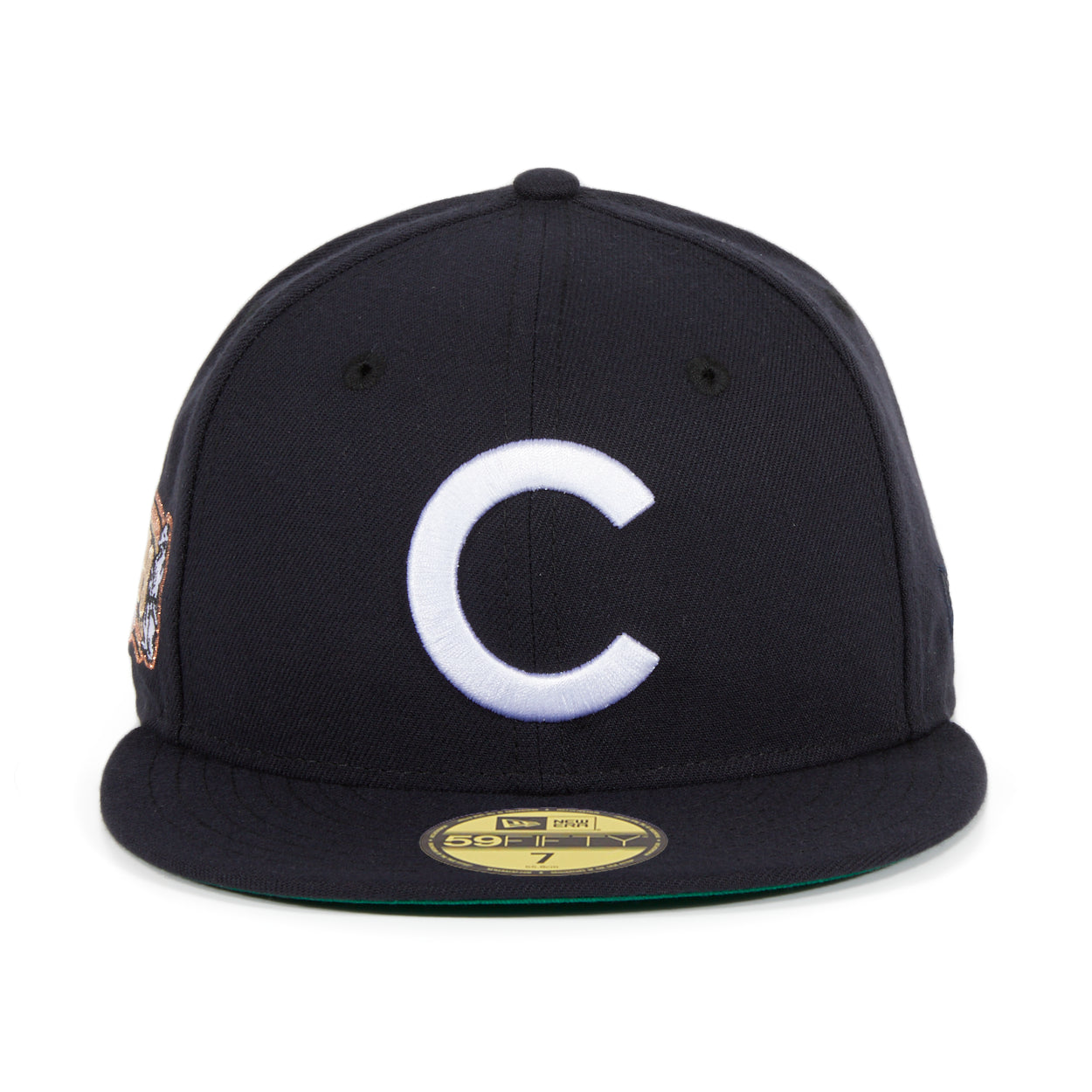 Exclusive New Era 59Fifty Chicago Cubs 1908 West Side Grounds Hat - Navy