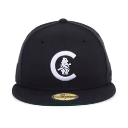 Exclusive New Era 59Fifty Chicago Cubs 1911 Logo Hat - Navy, White