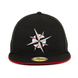 Exclusive New Era 59Fifty Seattle Mariners TATC Hat - Black