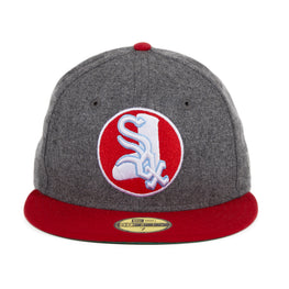 Exclusive New Era 59Fifty Chicago White Sox 1971 Logo Hat - Flannel, Red