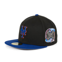 Exclusive New Era 59Fifty New York Mets Subway Series Hat - 2T Black, Royal