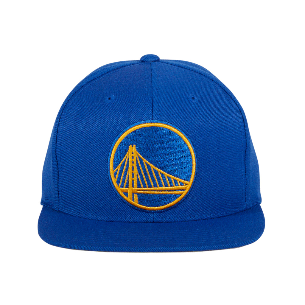 Mitchell & Ness Golden Sate Warriors Team Ground Snapback Hat - Royal