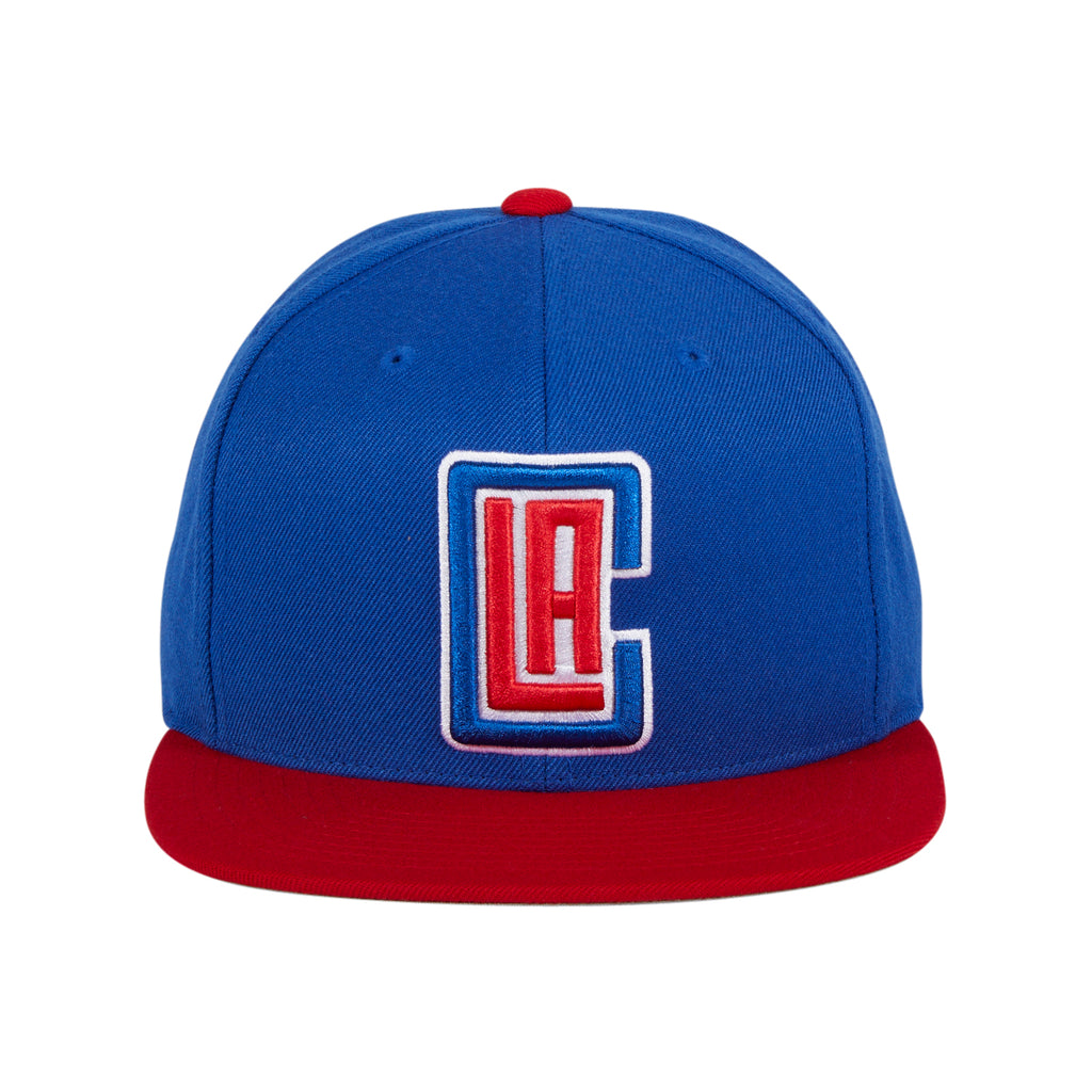Mitchell & Ness Los Angeles Clippers Alt Snapback Hat - 2T Royal, Red