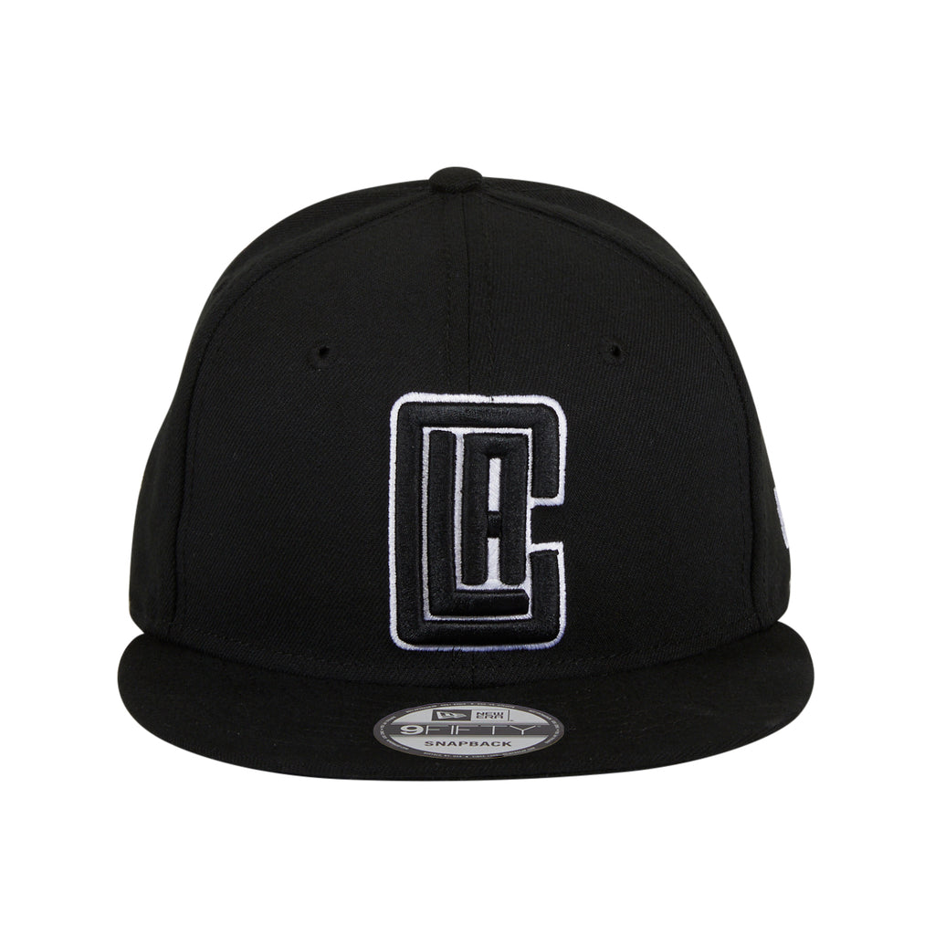New Era 9Fifty Los Angeles Clippers Alternate Snapback Hat - Black, White