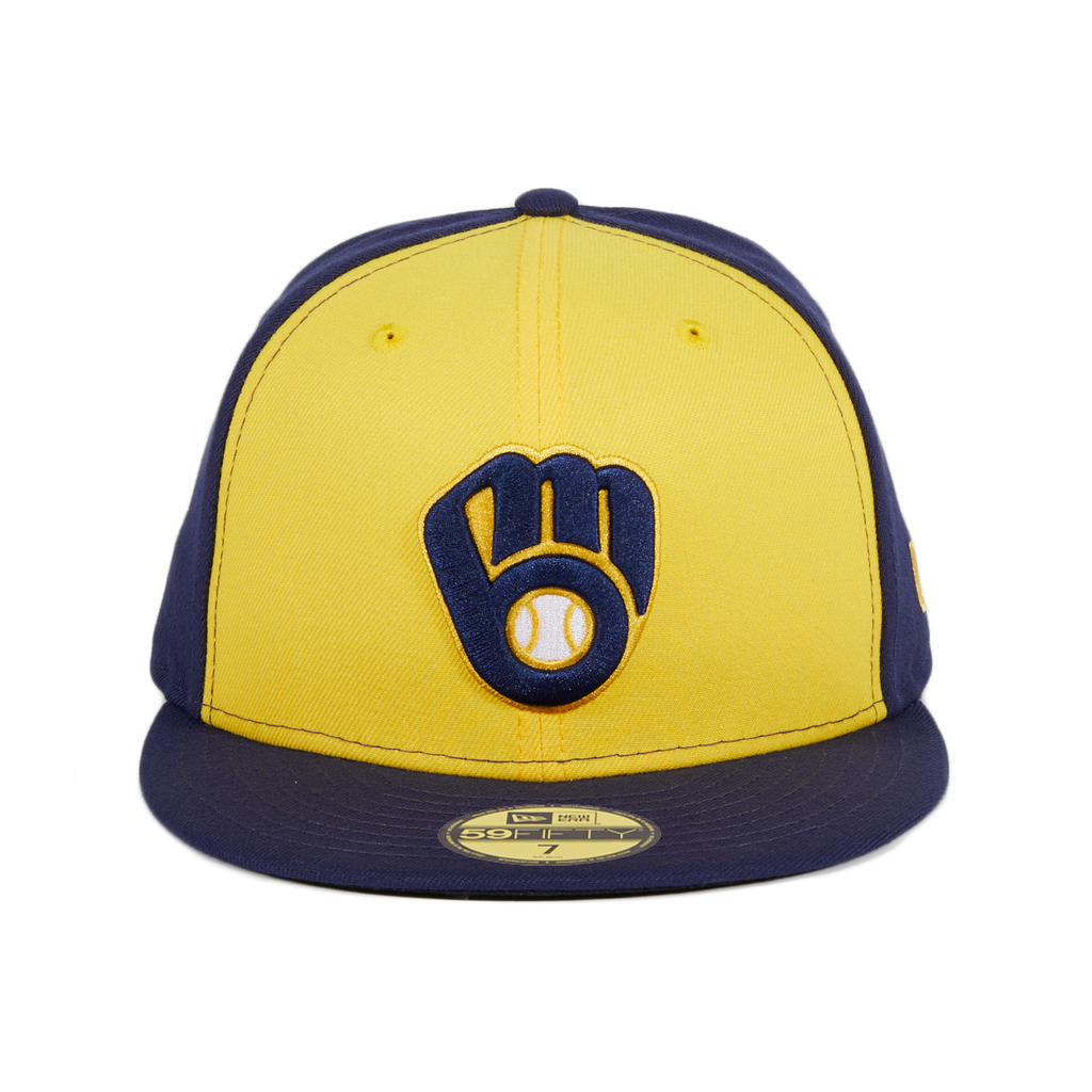 New Era 59Fifty Milwaukee Brewers Alternate Hat - Navy, Gold