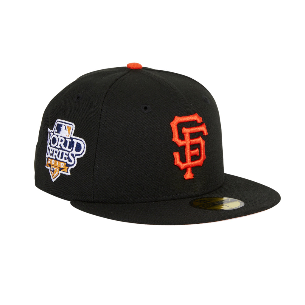 Pre-Order Exclusive New Era 59Fifty San Francisco Giants 2010  World Series Patch, Pink Undervisor - Black