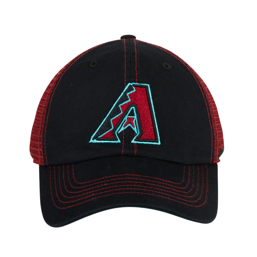 47 Brand Arizona Diamondbacks Trawler Snapback Adjustable Hat - Black, Sedona Red