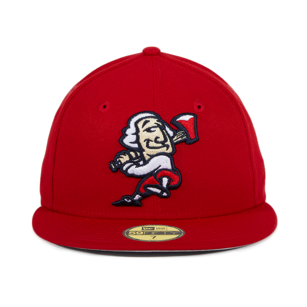 Exclusive New Era 59Fifty Fredericksburg Nationals George Hat - Red