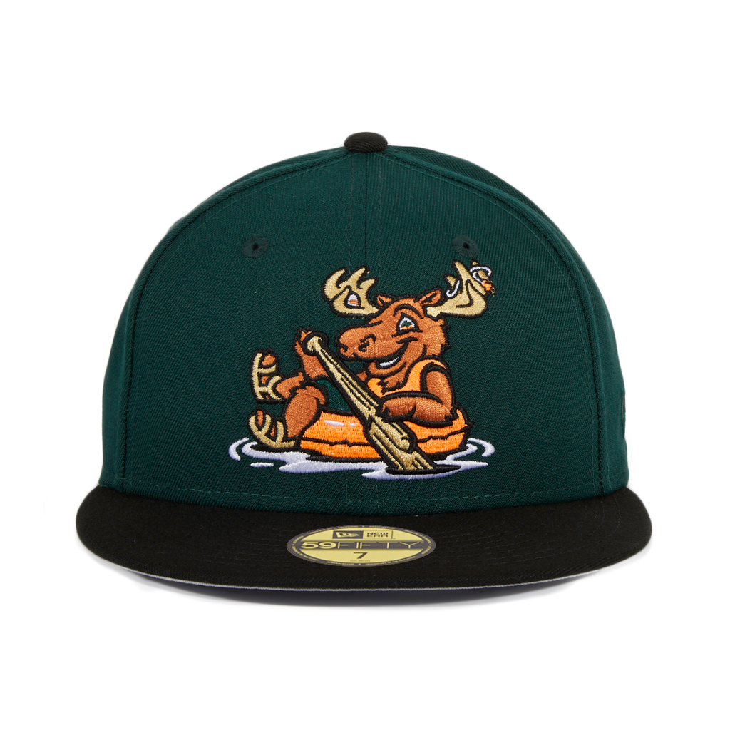 Exclusive New Era 59Fifty Missoula Paddleheads Alternate Hat - 2T Green, Black