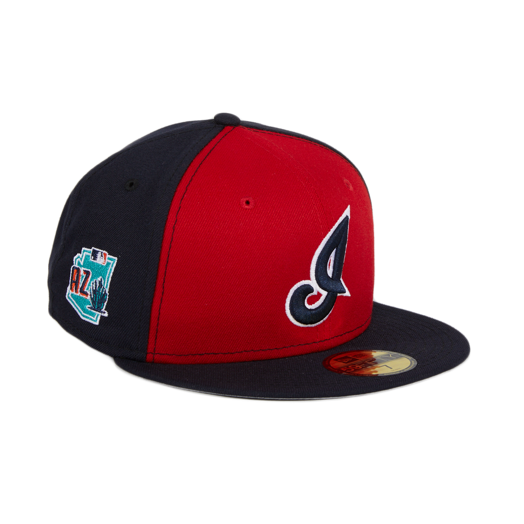 Exclusive New Era 59Fifty Cleveland Indians I Spring Training 2020 Hat - Red, Navy