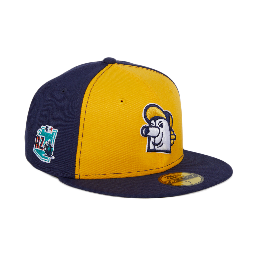 Exclusive New Era 59Fifty Milwaukee Brewers BH Head Spring Training 2020 Hat - Gold, Light Navy
