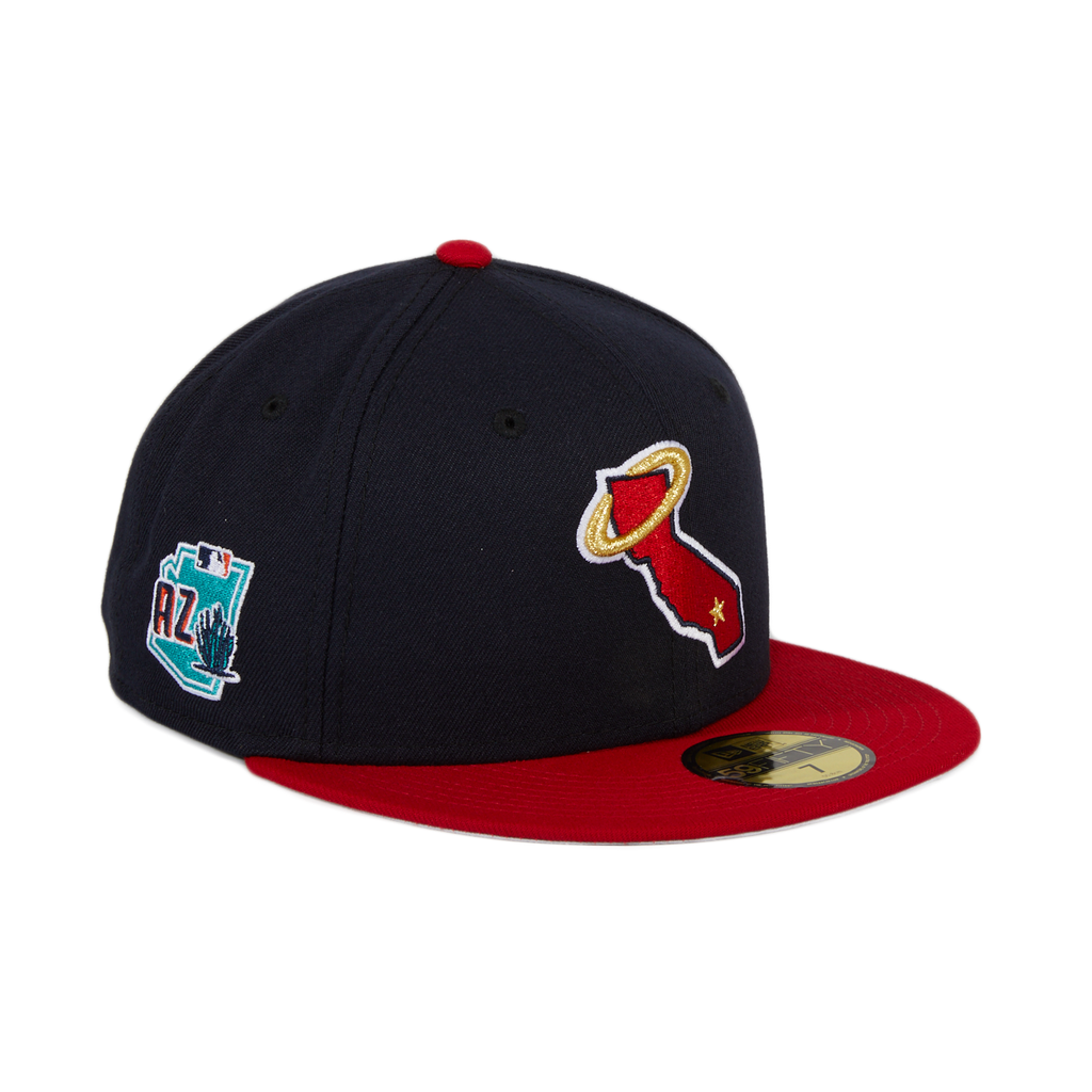 Exclusive New Era 59Fifty Los Angeles Angels State Spring Training 2020 Patch Hat - 2T Navy, Red