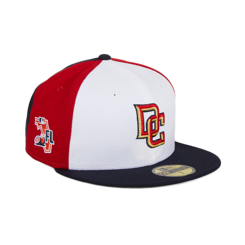 Exclusive New Era 59Fifty Washington Nationals DC Spring Training 2020 Patch PinW Hat - White, Red & Navy