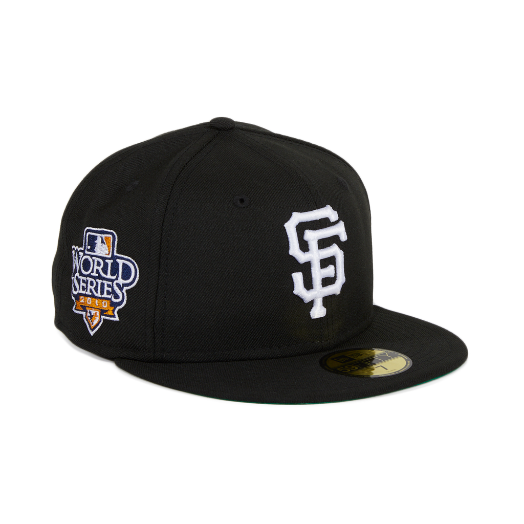 Exclusive New Era 59Fifty San Francisco Giants 2010 World Series Patch Hat - Black, White
