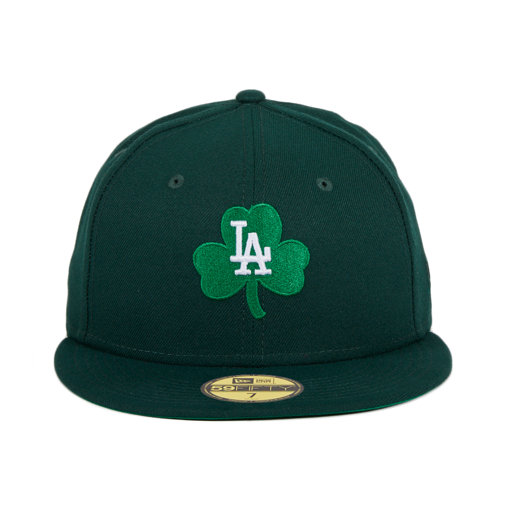 Exclusive New Era 59Fifty Los Angeles Dodgers Shamrock Hat - Green