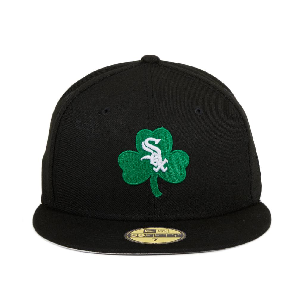 Exclusive New Era 59Fifty Chicago White Sox Shamrock Hat - Black
