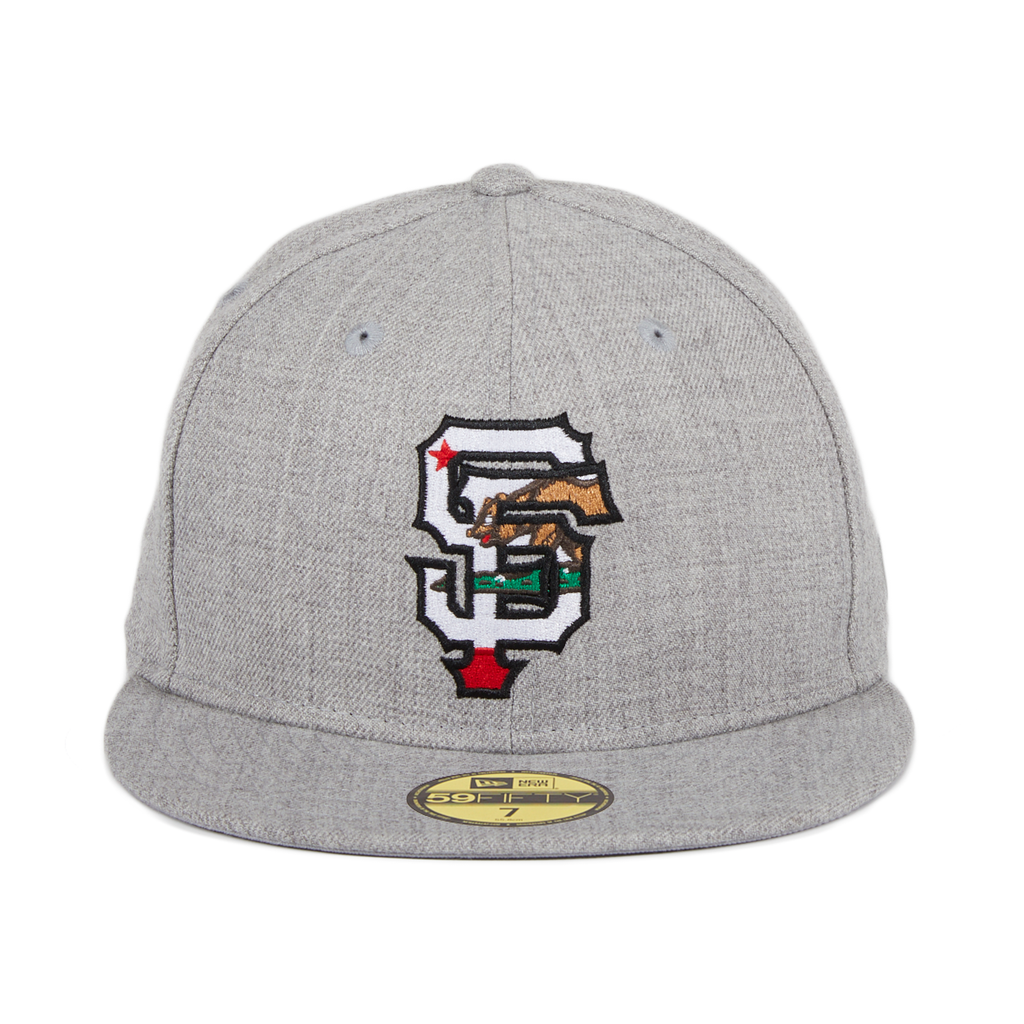 Exclusive New Era 59Fifty San Francisco Giants California Flag Fill Hat - Heather Gray