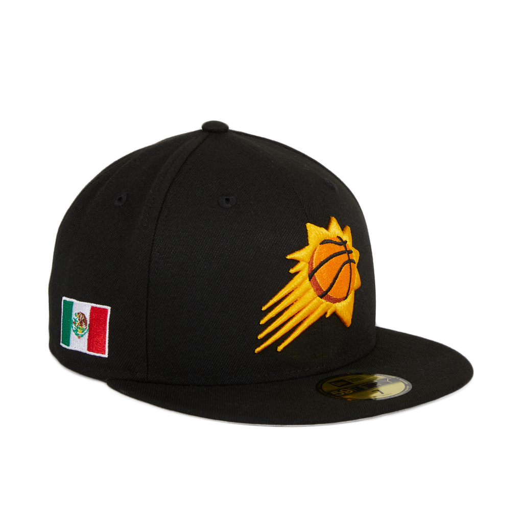Exclusive New Era 59Fifty Phoenix Suns Mexico Flag Patch Hat - Black