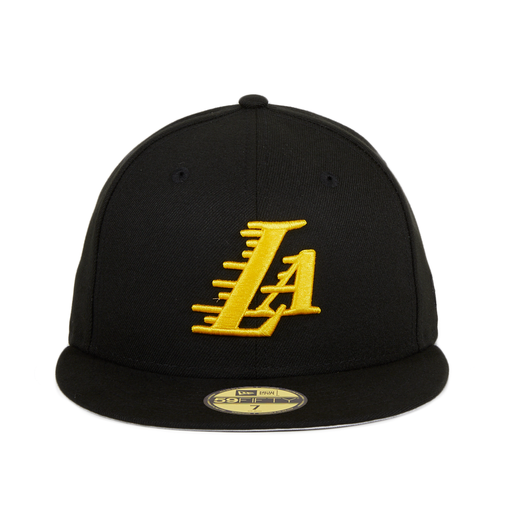 New Era 59Fifty Los Angeles Lakers LA Hat - Black, Gold