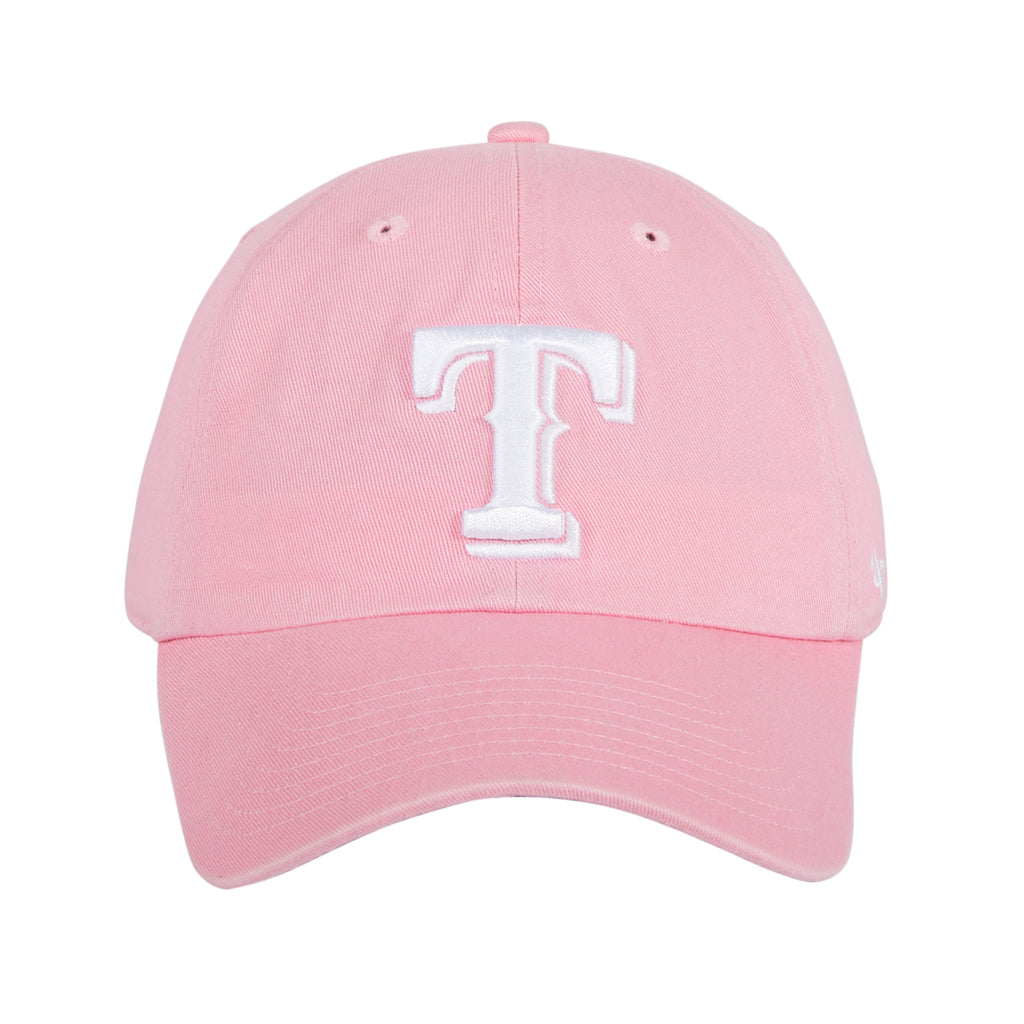 47 Brand Texas Rangers Cleanup Adjustable Hat - Pink, White