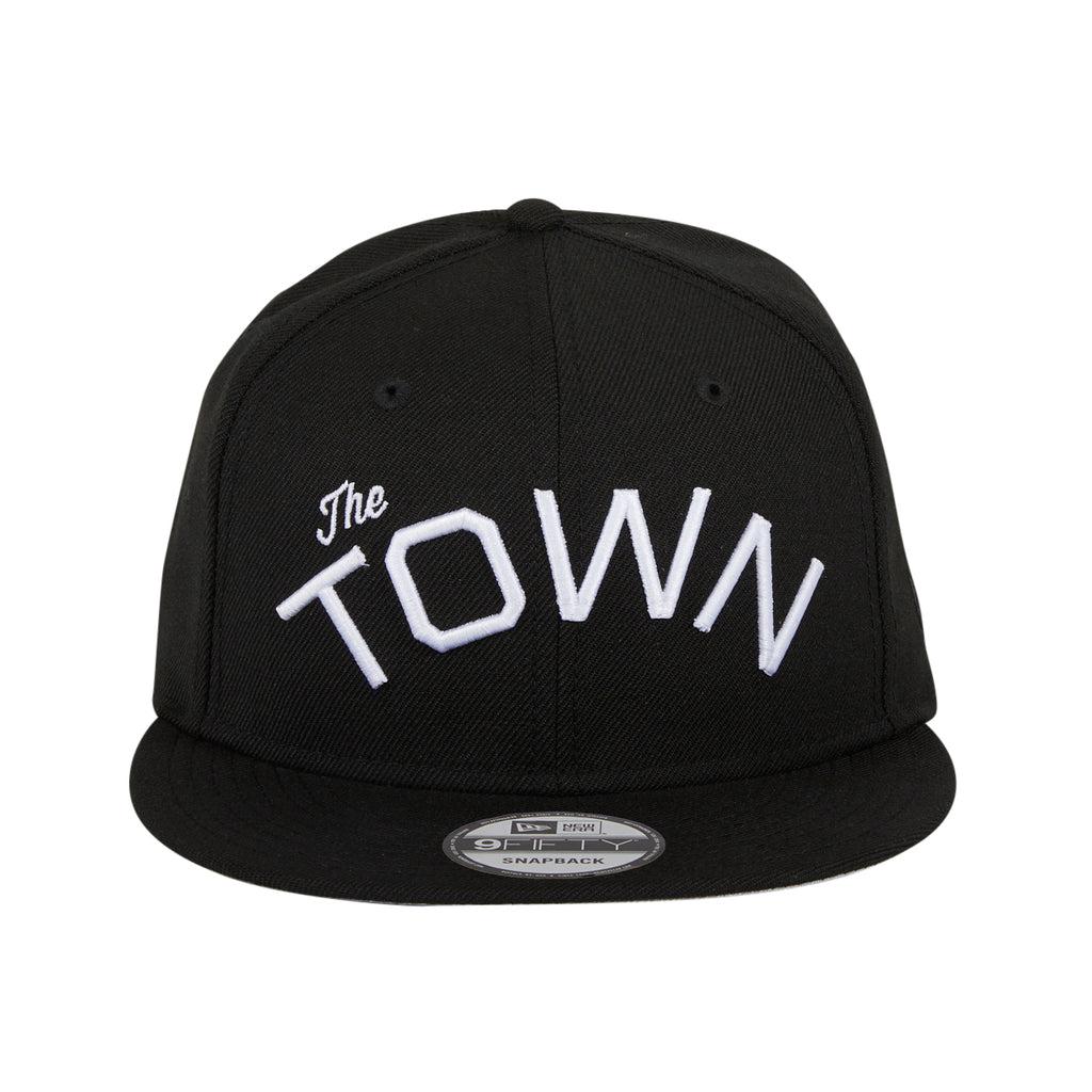 New Era 9Fifty The Golden State Warriors The Town Snapback Hat - Black, White