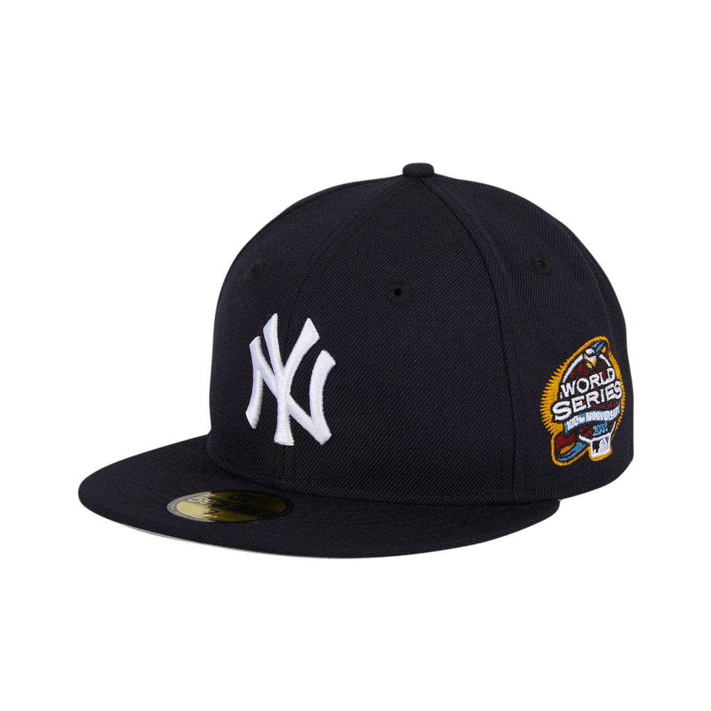 New Era 59Fifty New York Yankees 2003 World Series Patch Game Hat - Navy