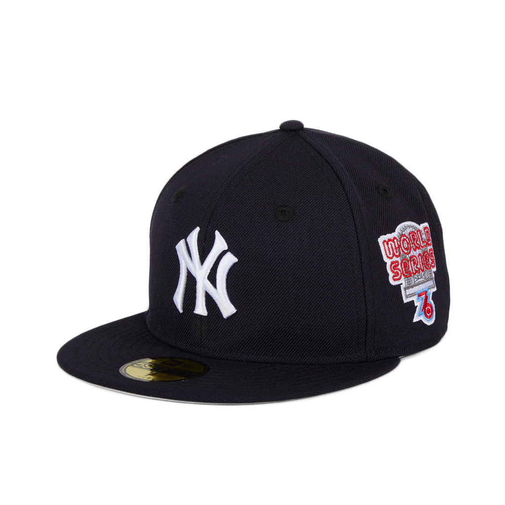 New Era 59Fifty New York Yankees 1976 World Series Patch Game Hat - Navy