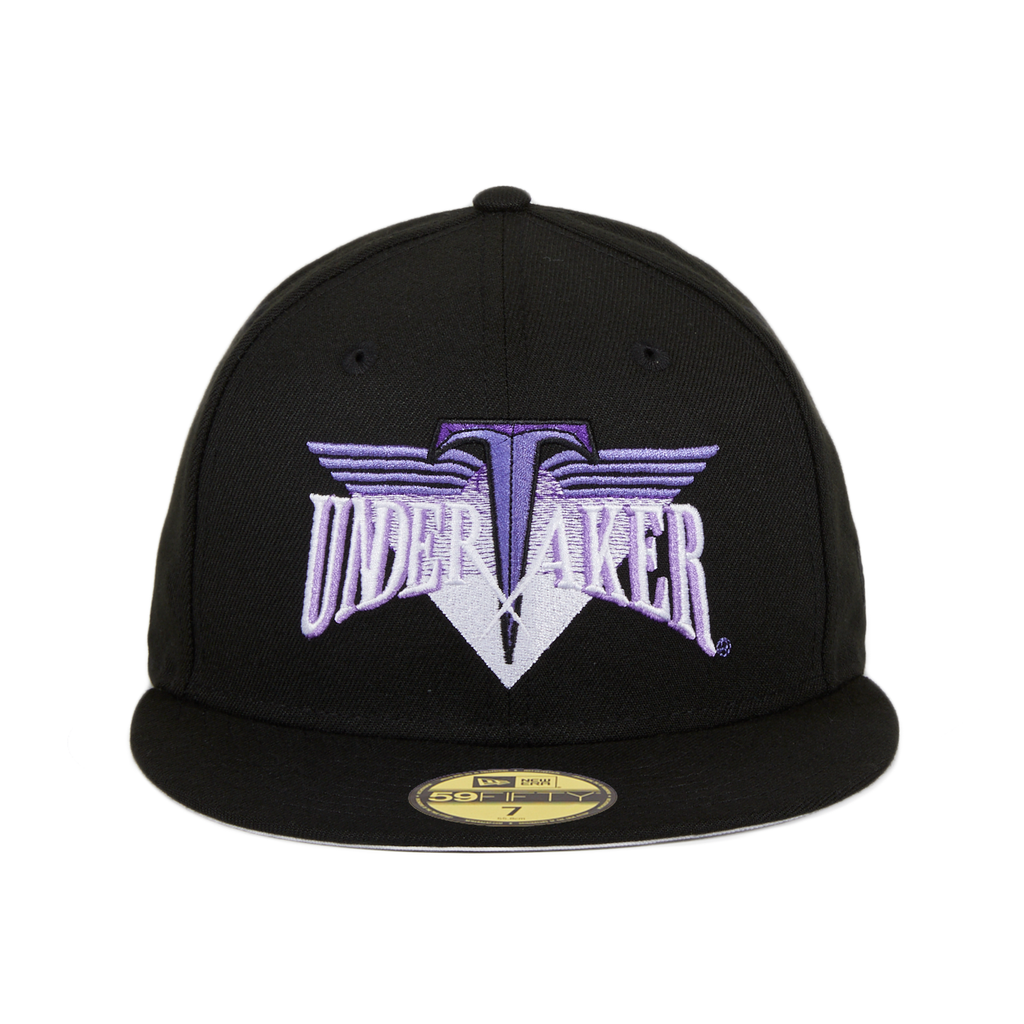 WWE New Era 59Fifty Undertaker Wordmark Hat - Black