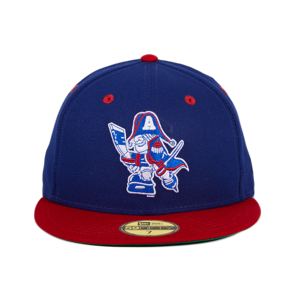 Exclusive New Era 59Fifty Milwaukee Admirals 1982 Logo Hat -  Royal, Red