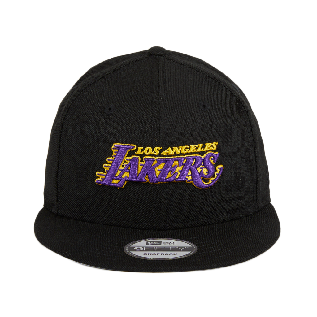 Exclusive 9Fifty Los Angeles Lakers Alternative Snapback Hat - Black, Purple, Gold
