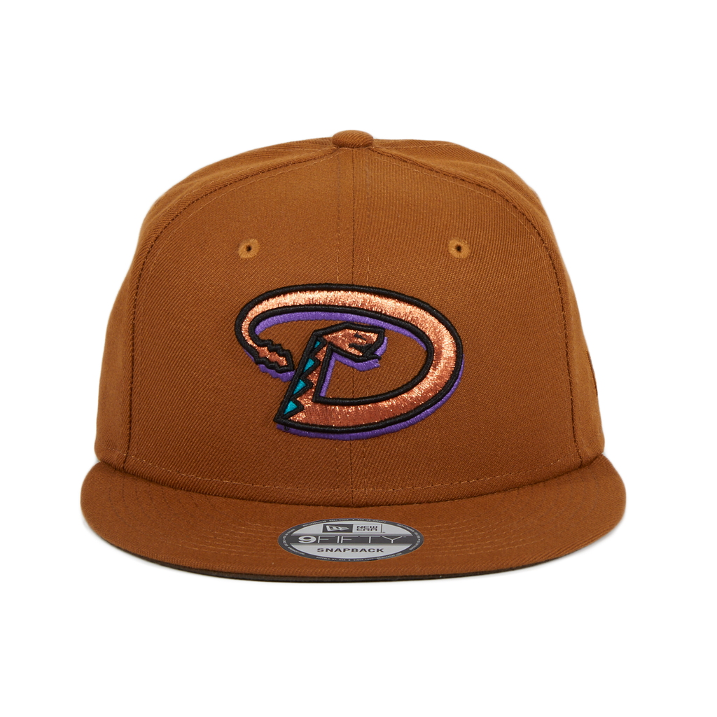 Exclusive 9Fifty Arizona Diamondbacks D Snapback Hat - Khaki, Metallic Copper