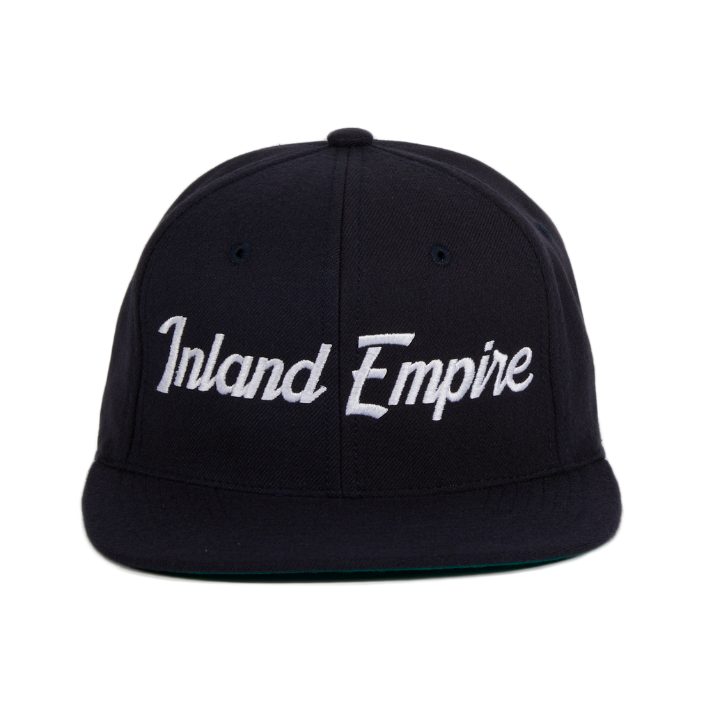 Hood Inland Empire Snapback Hat - Navy, White