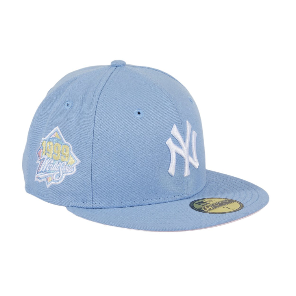 Pre-order Exclusive New Era 59Fifty New York Yankees 1999 World Series Patch Pink UV Hat - Indigo
