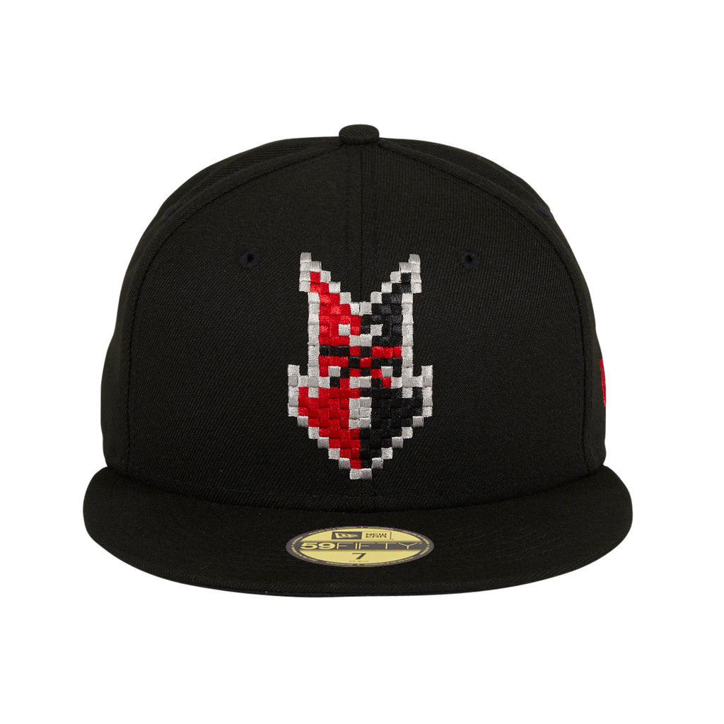 New Era 59Fifty Indianapolis Indians Video Game Night Hat - Black
