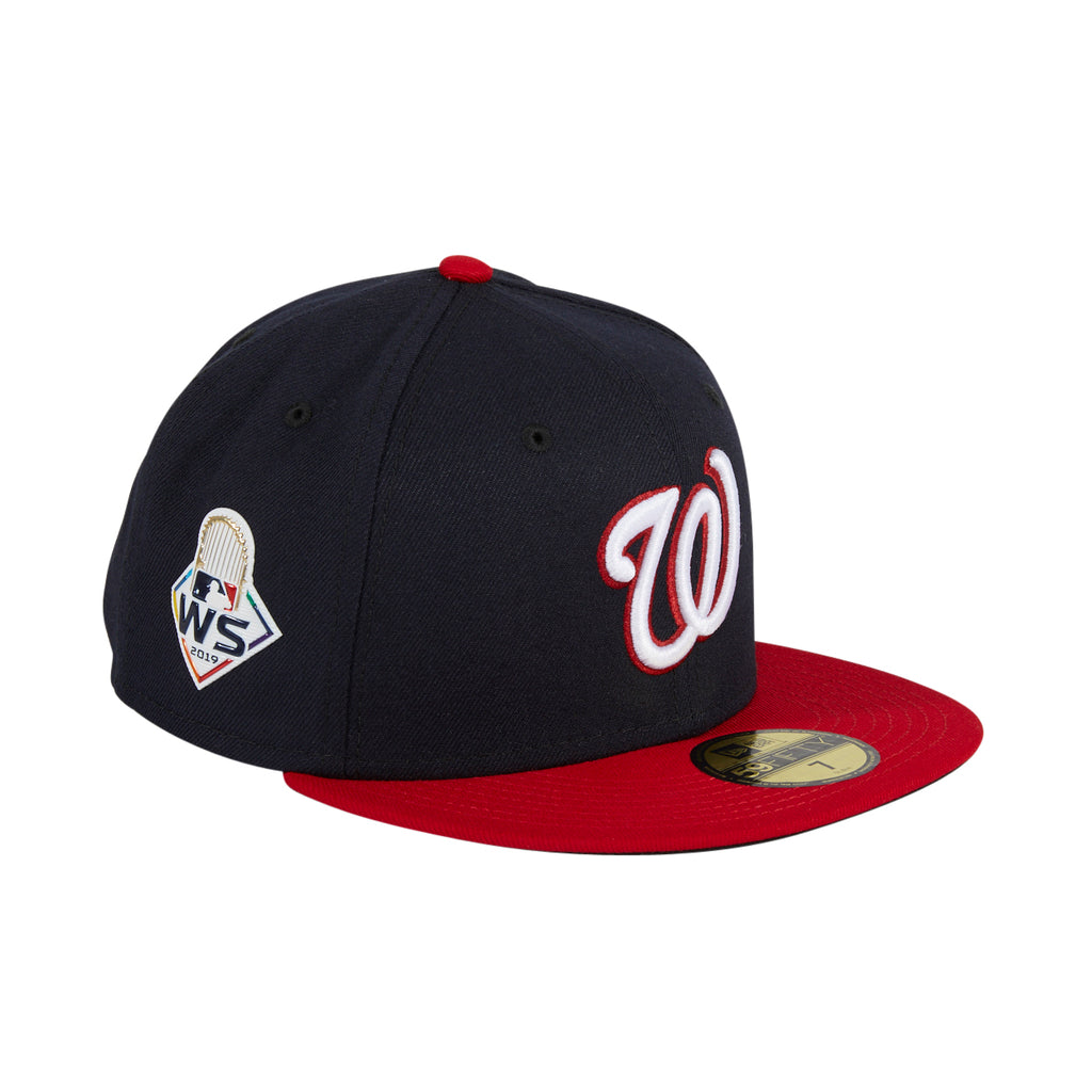 New Era 59Fifty Washington Nationals 2019 World Series Patch Alternate Hat - Navy, Red