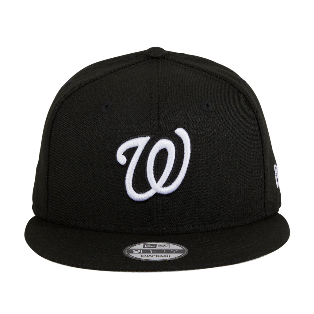 New Era 9Fifty MLB Basic Washington Nationals Snapback Hat - Black, White