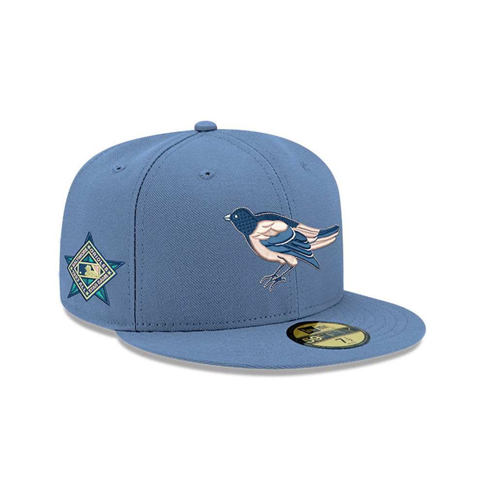 Pre-order Exclusive New Era 59Fifty Baltimore Orioles 1993 All Star Game Patch Pink UV Hat - Indigo