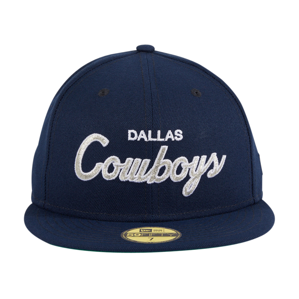 Exclusive New Era 59Fifty Dallas Cowboys Script Hat - Navy