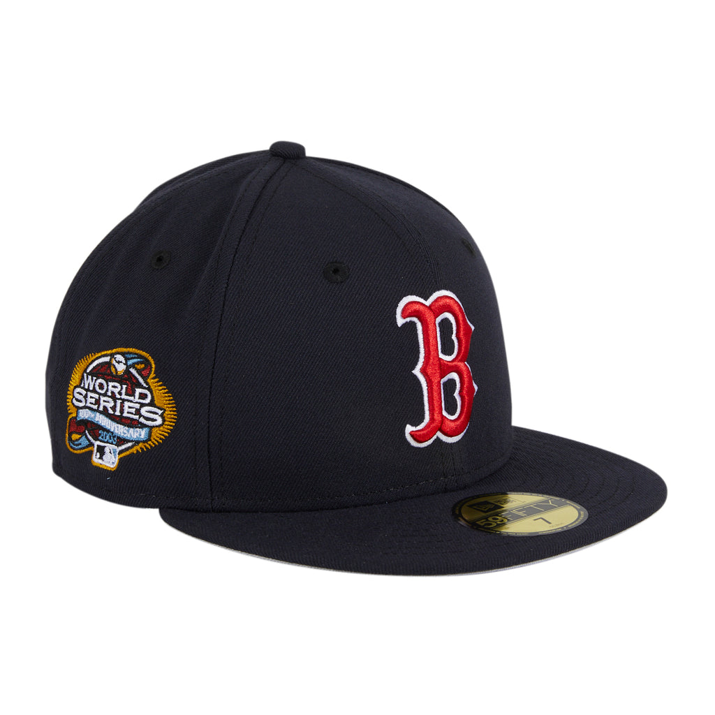 Exclusive New Era 59Fifty Boston Red Sox 2003 World Series Patch Hat - Navy