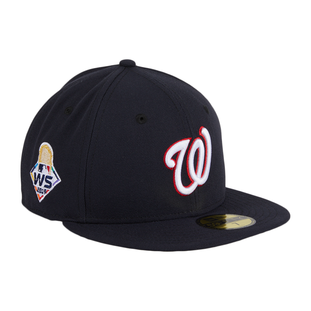 Exclusive New Era 59Fifty Washington Nationals 2019 World Series Patch Hat - Navy