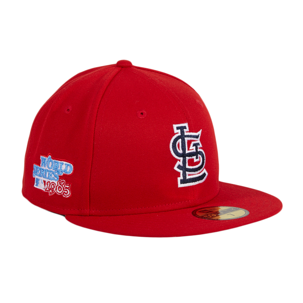 New Era 59Fifty St Louis Cardinals 1985 World Series Patch Hat - Red