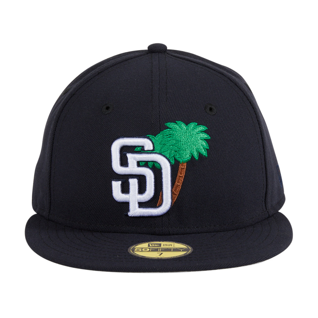 New Era 59Fifty San Diego Padres Palm Tree Hat - Navy, White