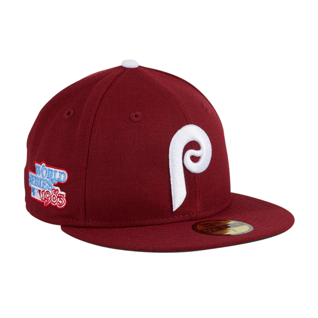 New Era 59Fifty Philadelphia Phillies World Series 1983 Patch Hat - Cardinal, White