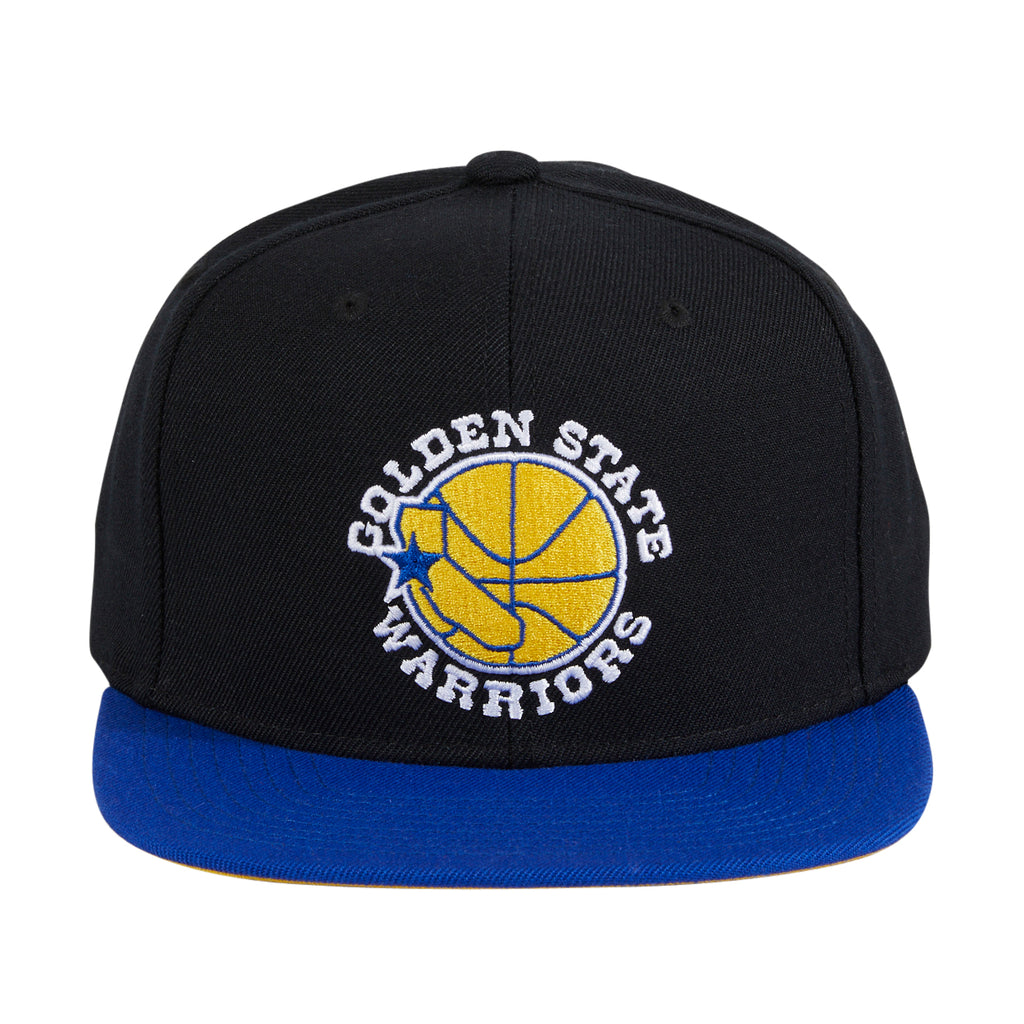 Mitchell & Ness Golden State Warriors Hardwood Classic Snapback - 2T Black, Royal