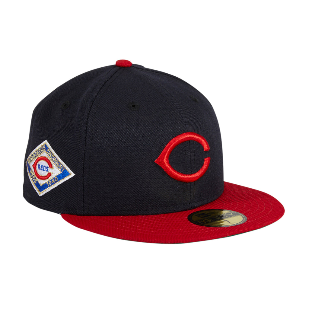 New Era 59Fifty Cincinnati Reds 1940 World Series Patch Hat - Navy, Red