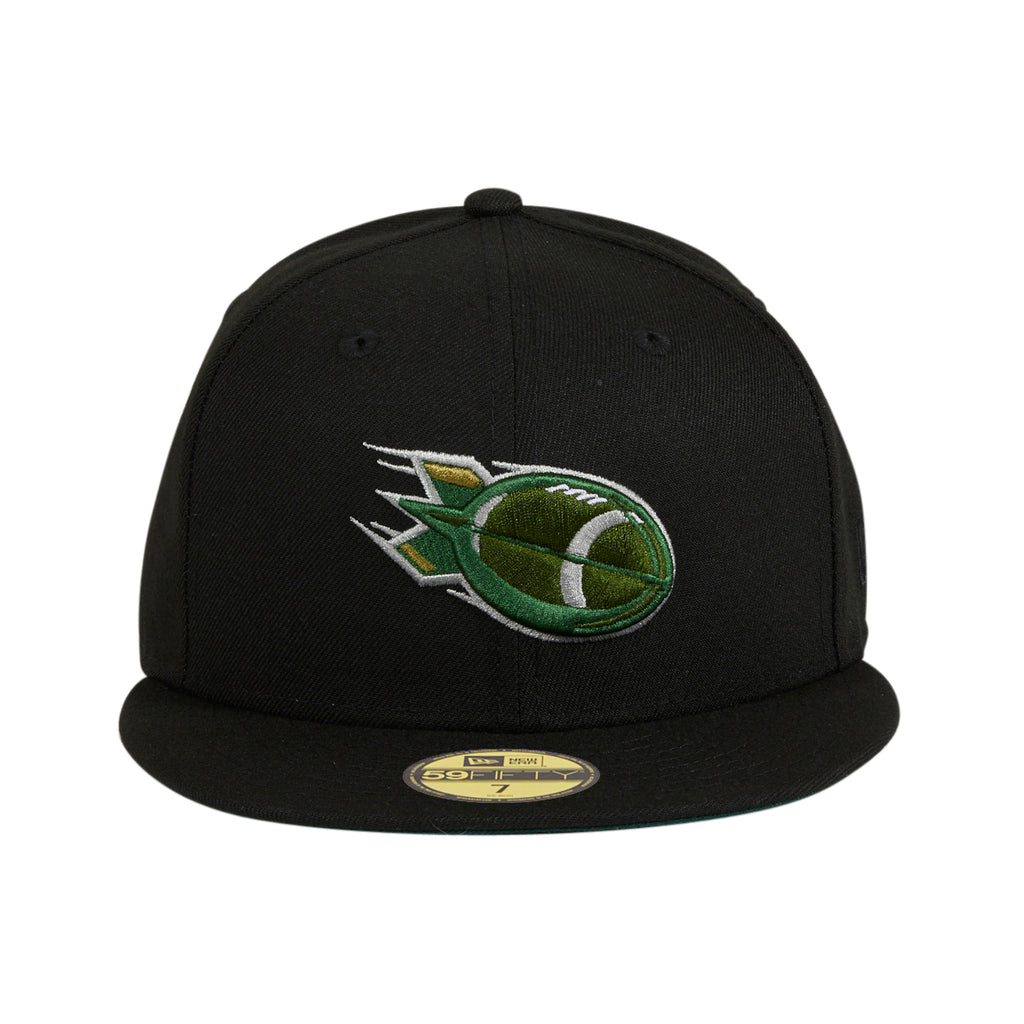 Exclusive New Era 59Fifty Albany Warbirds Green UV Alternate Hat - Black